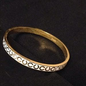 Coach bracelet cream with gold and crystal